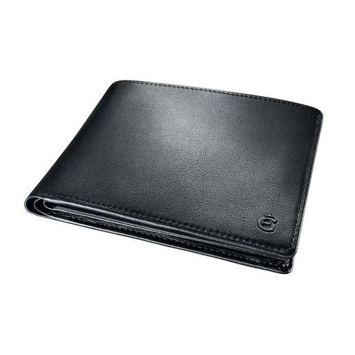 Agréablement plat avec seulement 2 cm, votre portefeuille se range dans toute poche – sans faire de bosse.