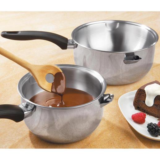 Casserole bain-marie Cette casserole à mijoter pratique remplace le bain-marie d'autrefois si pénible.