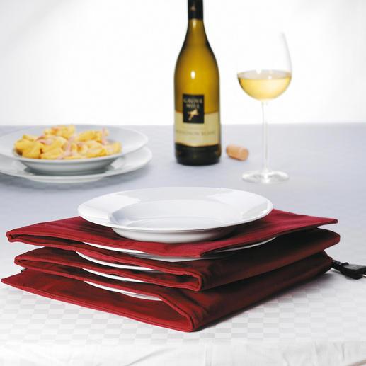 Chauffe-assiettes Avec centre bien chaud & bords pouvant être saisis à la main. Pour max. 8 assiettes à pâtes/grand format.