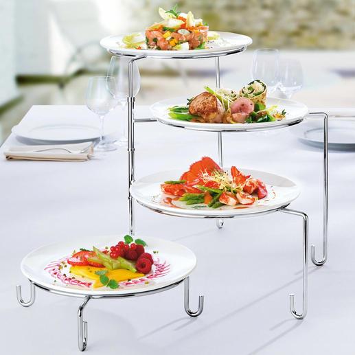 Présentoir pivotant Point de mire de votre buffet ou de votre table. Également une aide très pratique au dressage des plats.