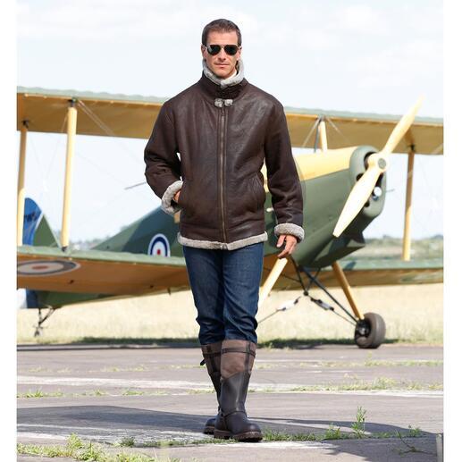 Blouson d'aviateur en fourrure d'agneau « B3 » La légende : le célèbre B3, le blouson d'aviateur de l'armée américaine US Army Air Corps, depuis 1934.