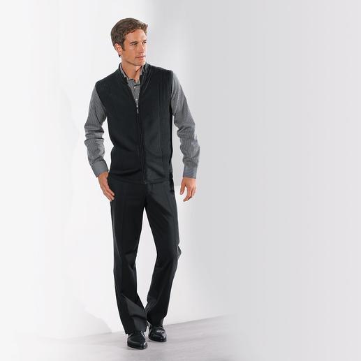 Gilet Stereo-System® Le classique de demain: la nouvelle génération de gilets en tricot. Ligne près du corps non comprimante.