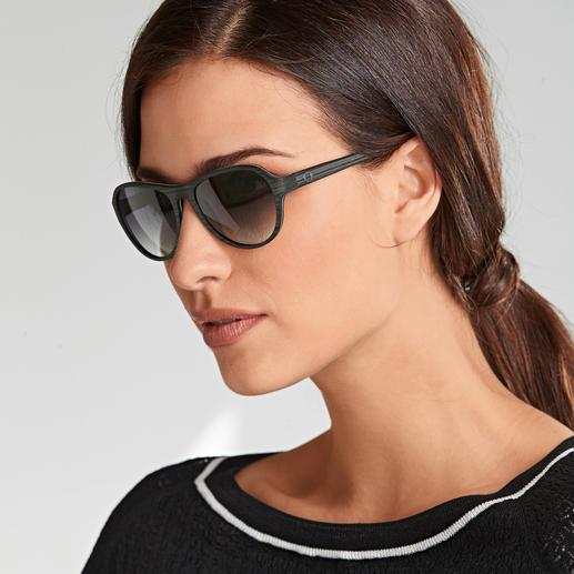 Lunettes de soleil en coton Monkeyglasses® Bel aspect bois, en vogue. Néanmoins plus légères, plus solides, plus résistantes à l'humidité.