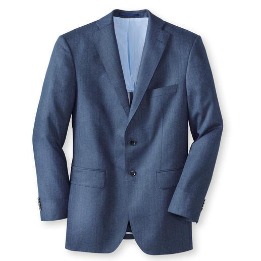 Veste en soie motif chevrons Di Pray, Bleu La veste en pure soie. Ses tons discrets s'accordent parfaitement avec toutes les couleurs unies.