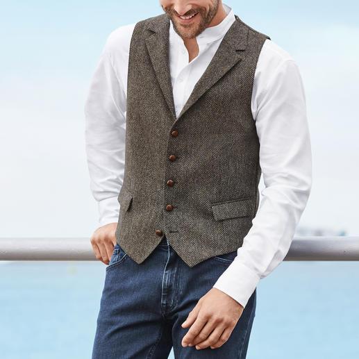 Veston en tweed Barutti Le vêtement parfait porté en solo : le gilet en tweed entièrement fait de pure laine vierge.