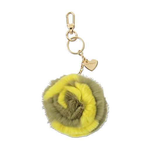 Pendentif en fourrure « fleur » ou « rose » signé Twin-Set Top tendance : pompon duveteux en fourrure à accrocher aux sacs et aux clés. Portez les modèles-signature de Twin-Set !