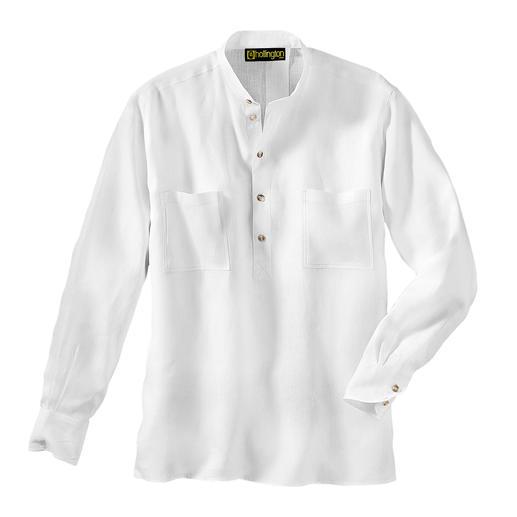 La chemise Nehru en lin La chemise col officier originale Hollington.