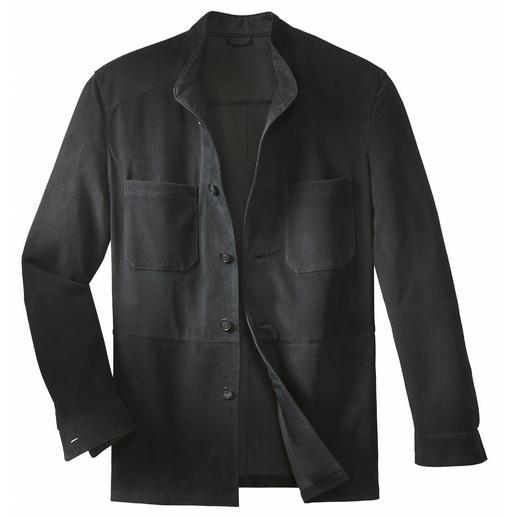 Veste en cuir de jeune renne Une veste en cuir robuste, aussi légère qu'une chemise. Ne pèse que 650grammes.