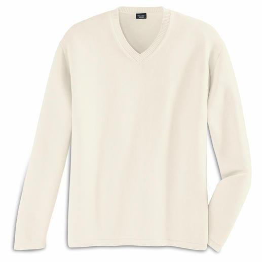 Le pullover Pima Finement mais solidement tricoté en agréable coton Pima du Pérou cueilli à la main.