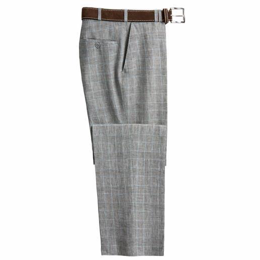 Pantalon en lin prince de galles de Bottoli S'accorde avec quasiment tous les vêtements de votre garde-robe.