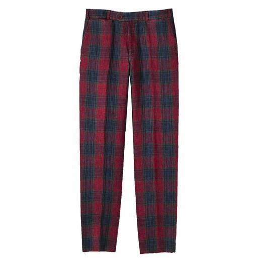 Pantalon prince de galles en lin ormezzano pas cher - Pantalon en lin homme pas cher ...