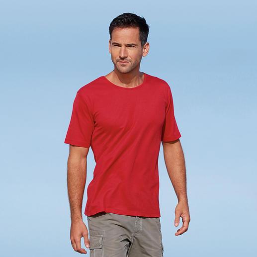Le T-shirt SunSelect®, Homme Stylé, toucher agréable et effet comparable à une bonne crème solaire.