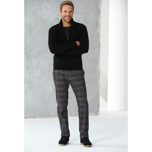 Pantalon en velours côtelé à carreaux Hoal Animé, sans être criard. Et juste ce qu'il faut de chaleur.