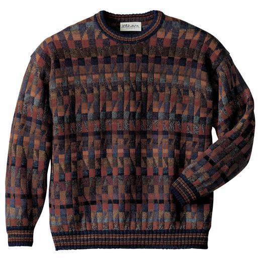 """Le pull-over en alpaga """"Mosaiko"""" Un chef-d'œuvre venu des Andes. En 100 % alpaga. Réalisé à la main, avec 28 (!) coloris."""