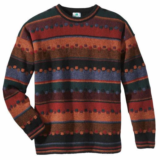 Le pull « Automne irlandais» Le pull irlandais aux teintes tourbe, baies, feuillage et mousse. Noble jacquard fait main.