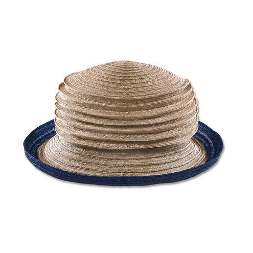 Chapeau accordéon de Mayser Pliable et pratiquement inusable : le chapeau composé de fines bandes de chanvre cousues les unes aux autres.