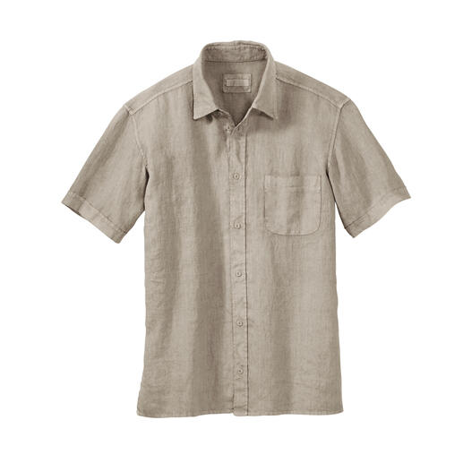 Chemise en lin vintage Dorani La chemise en lin au superbe look vintage. Avec le confort d'antan, longtemps oublié. Par Dorani.