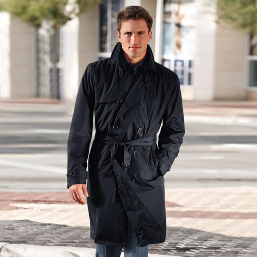 Trench-coat imperméable de Knirps®, homme Déperlant et respirant. Transportable et ultra léger. Lavable et au séchage rapide.