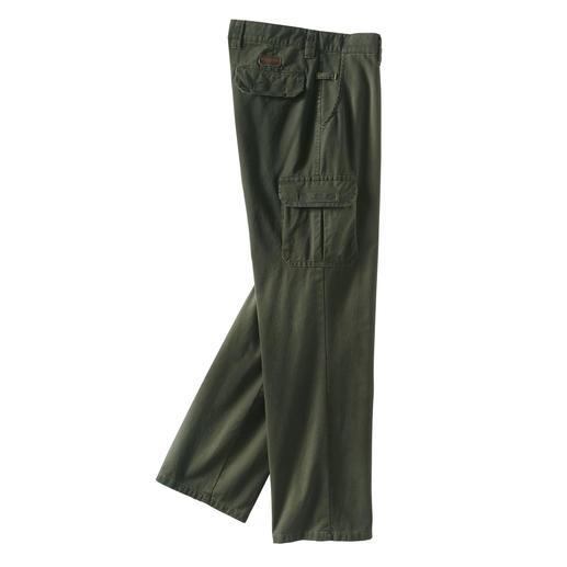 Pantalon cargo 4-saisons en coton pima Un tissu fonctionnel rare, en coton pima : il protège du froid, de la pluie et du vent.