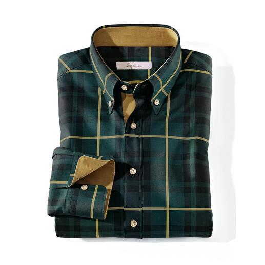 Chemise tartan Ingram Chic, même avec des vestons élégants. Des couleurs classiques. Un tissu noble. Des détails soignés.