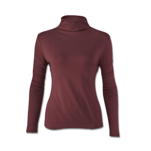 Sous-pull en soie et Tencel® Tient chaud sans vous grossir : le sous-pull idéal sous les blazers et les vestes à coupe amincissante.