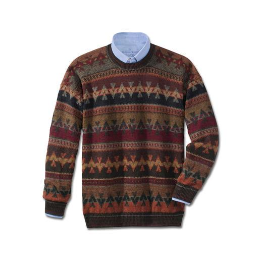 Pull-over en alpaga «PACHA » Pull-over jacquard tricoté de manière artisanale avec grand soin. Original provenant des Andes.