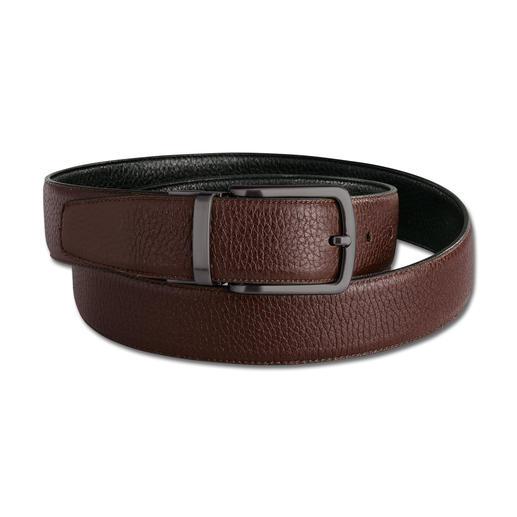 Ceinture réversible élastique de Possum® La ceinture réversible élastique en cuir de cerf : 5 cm de confort en plus. Fabriquée à la main en Espagne.