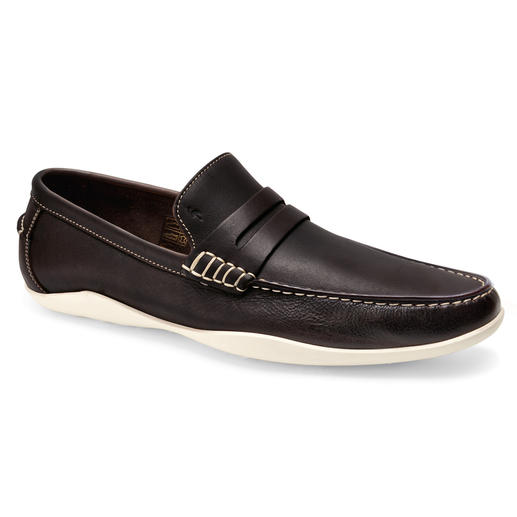 Mocassins en cuir de koudou de Harrys of London Un mocassin loisirs stylé – mais antidérapant comme une chaussure de surf. Une semelle profilée imperméable.