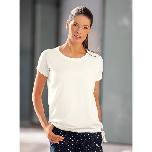 T-shirt John Smedley en maille fine 30 jauge Beaucoup plus agréable qu'un t-shirt traditionnel. Mais tout aussi facile à combiner.