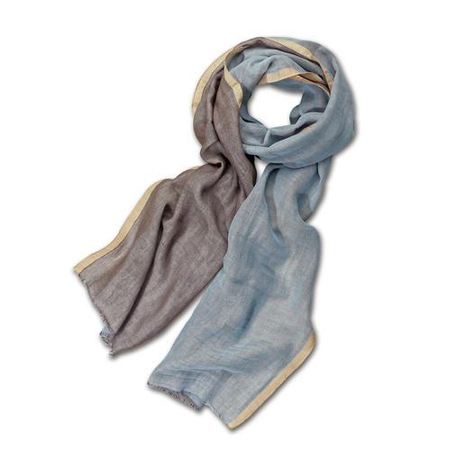 Écharpe double face alpi Deux couleurs - une infinité de combinaisons. Et bien plus élégante que les autres écharpes en coton.