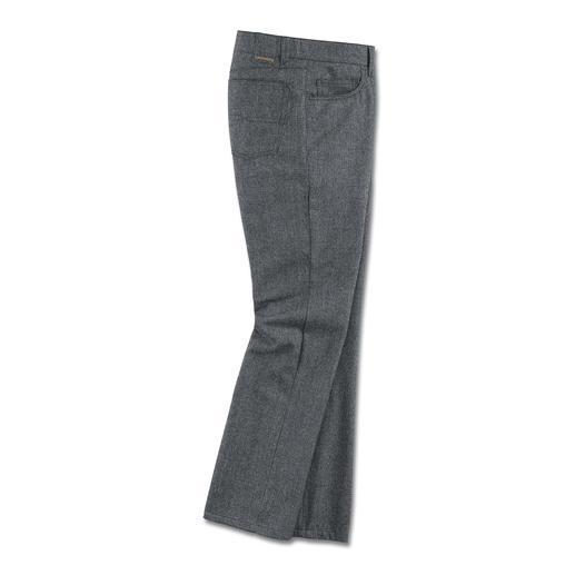 Pantalon en laine cinq poches Ultradoux. Étonnamment solide. (Et néanmoins abordable.)