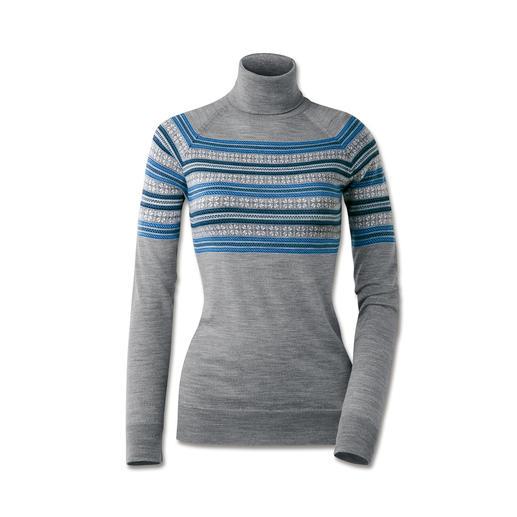 Pull norvégien en tricot à jauge 30 de Smedley Le pull norvégien le plus fin. Fin. Léger. Également agréable à porter à l'intérieur.