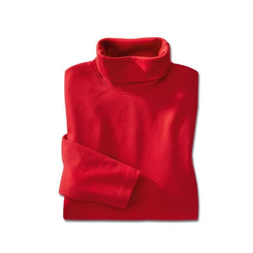 Sous-pull en coton Pima, femme Garde sa forme et l'éclat de ses couleurs, avec un éclat soyeux.