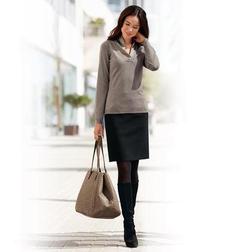 Jupe classique Michèle Cette jupe confortable s'adapte à tous les styles et toutes les occasions.