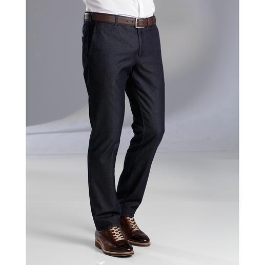 Jean raffiné sans pinces MMX Le jean pour les gentlemen. D'aspect, proche du pantalon en toile. Mais en denim robuste et peu salissant.