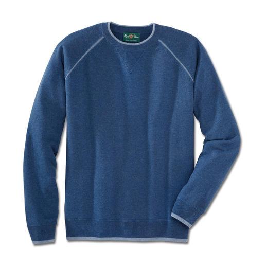 Sweat-shirt en cachemire Alan Paine Aussi confortable que votre sweat-shirt préféré. Confectionné à partir du meilleur cachemire de Mongolie.
