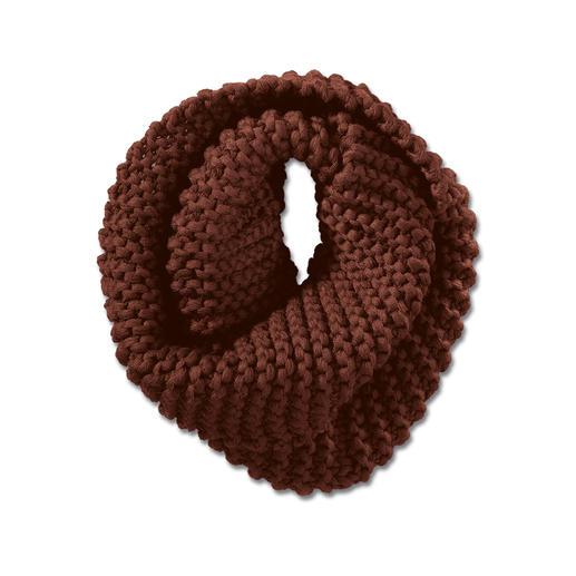 Écharpe tube ou Bandeau tricotée à la main de Strickmadame by Zebratod Du tricot d'art en édition limitée venu d'Allemagne : de grosses mailles vigoureuses tricotées à la main.