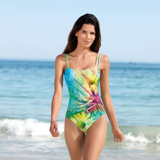 Maillot de bain SunSelect® « Pré fleuri » Un maillot de bain à l'effet d'une bonne crème solaire. En SunSelect® qui laisse passer les rayons du soleil.