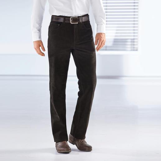 Le pantalon en cuir de buffle Robuste, inusable et pourtant si souple. Votre jean en véritable cuir de buffle.