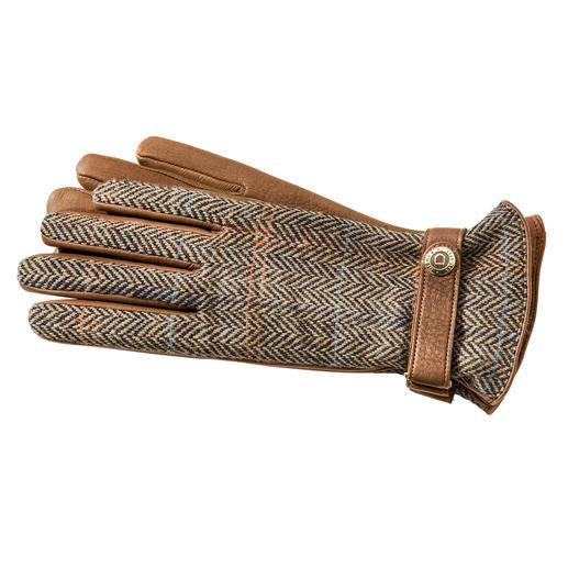 Gants hommes ou femmes en Harris Tweed de Dents Des gants de luxe de Dents. En Harris Tweed original et cuir de cerf rare.