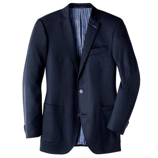 Veste de voyage Carl Gross - La veste idéale au quotidien comme en voyage. Infroissable, résistante aux taches bien qu'en pure laine vierge.