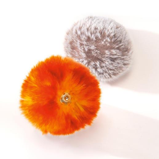 Bonnet à pompon amovible Une idée géniale suivant la tendance du pompon en fourrure.