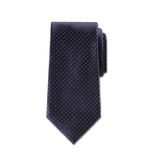 Cravate en soie « pois caviar » d'Ascot Les pois caviar : le motif cravate sans doute le plus raffiné et le plus polyvalent.