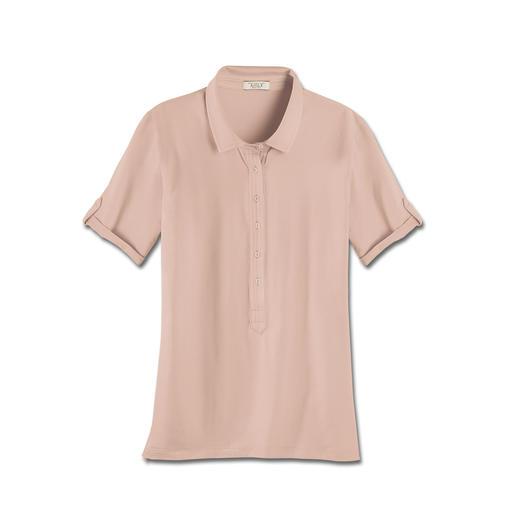 Polo sportif en coton Aigle Douceur au toucher. Confortable grâce à l'évacuation de l'humidité. Protection efficace contre les UV.