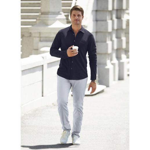 Chemise en piqué de coton Pima Sunspel Sans nul doute, votre chemise d'été la plus aérée et la plus confortable.