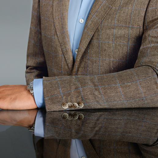 Blazer à chevrons, en soie, Di Pray Idéal en été : le blazer en pure soie. Ses couleurs discrètes s'associent avec tous les unis.