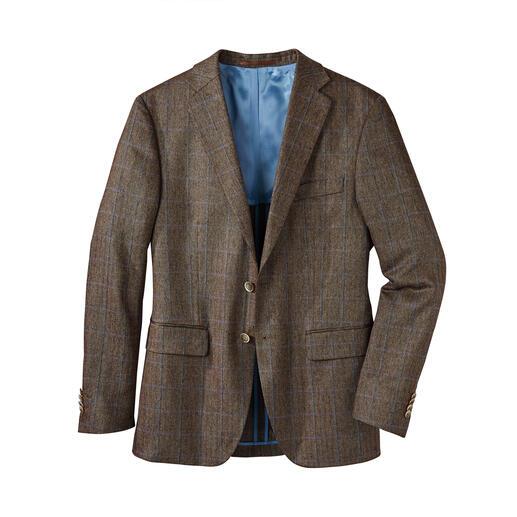 Veste en soie motif chevrons Di Pray, Brun Idéale pour l'été: la veste en pure soie. Ses tons discrets s'accordent avec toutes les couleurs unies.