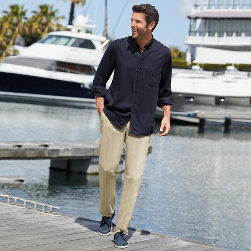 Chemise en denim Tencel® Vous allez adorer cette chemise en « jean » aussi bien par beau temps que par grand froid.