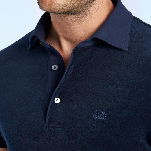 Polo en éponge van Laack La preuve qu'un T-shirt en éponge peut tout à fait être stylé.  Par van Laack, spécialiste des chemises.