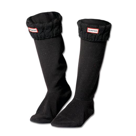 Chaussettes pour bottes Hunter Des chaussettes stylées en polaire, signées Hunter : pour plus de chaleur dans vos bottes en caoutchouc.
